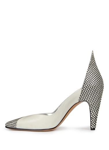 Givenchy %100 Deri Abiye Ayakkabı Beyaz